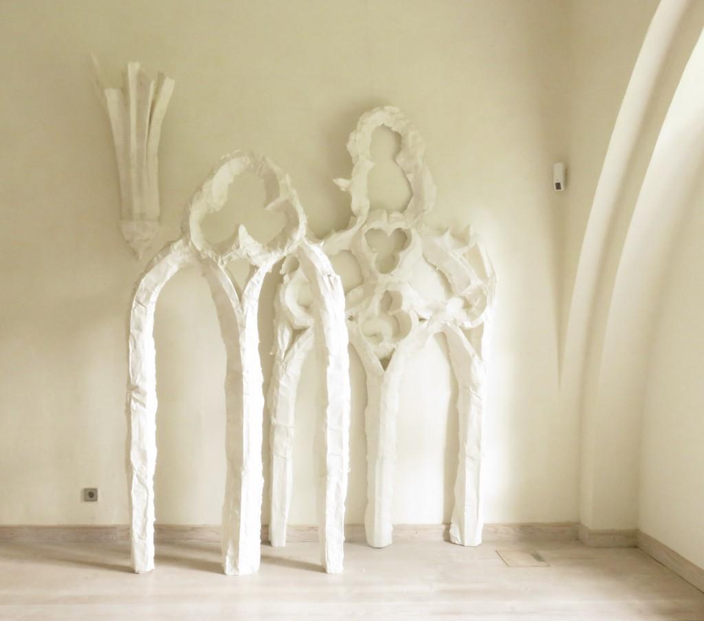 Arbeit von Astrid Weichelt im Kloster Chorin © Kathrin Schrader