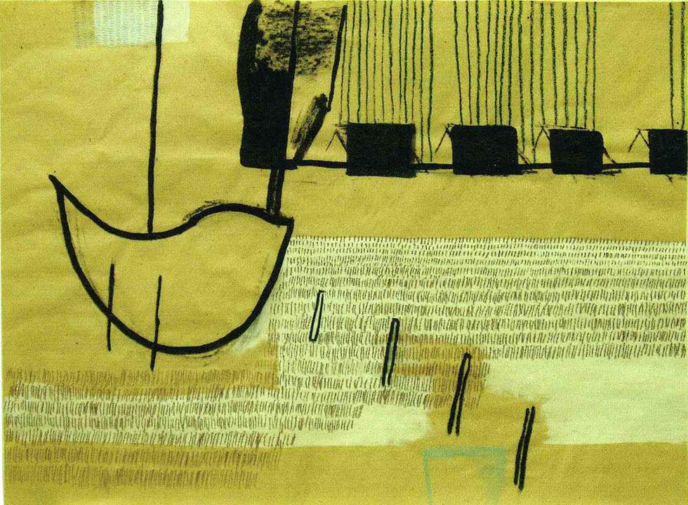 ALTKUENKEND-2003-Kohle-Tusche-Gesso-Kreide-auf-Packpapier-75-x-99-cm