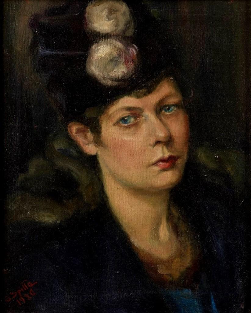 Selbstporträt von Gertrud Spitta. 1920